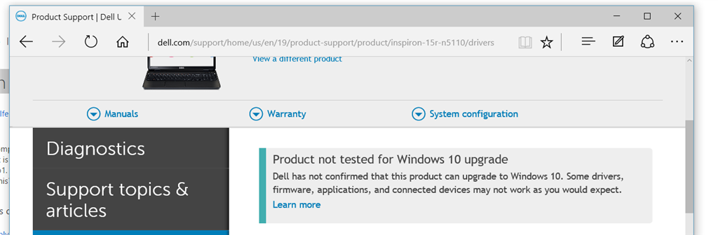is inspiron n5110 compatable with windows 10? - Microsoft Community