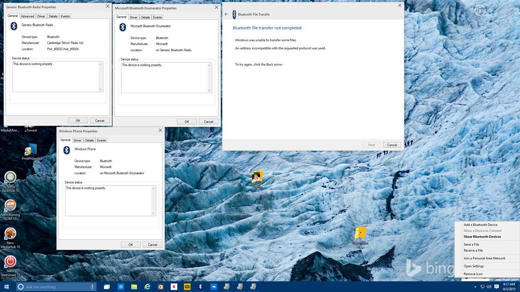 Cant send or recieve files windows 10 - Microsoft Community