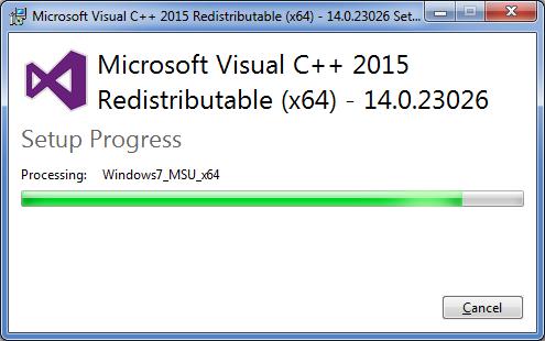 Trouble Installing Microsoft Visual C 2015 Redistributable