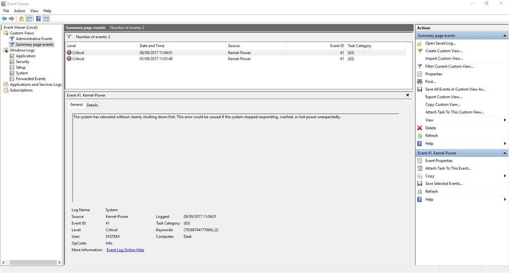 Windows 10 Blue Screen - Windows Shutdown - Microsoft Community