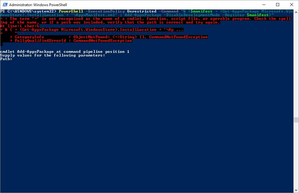 how to restore windows 10 store microsoft community
