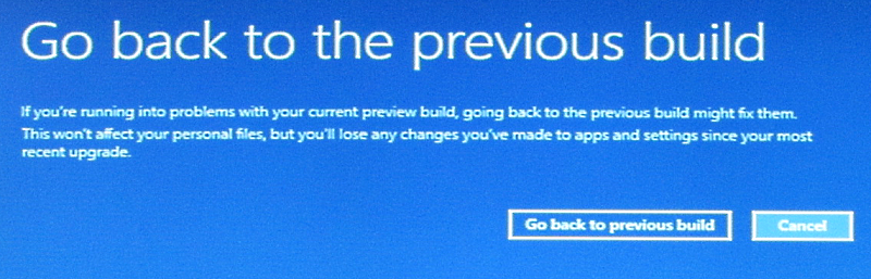 roll back to windows 8.1 from windows 10