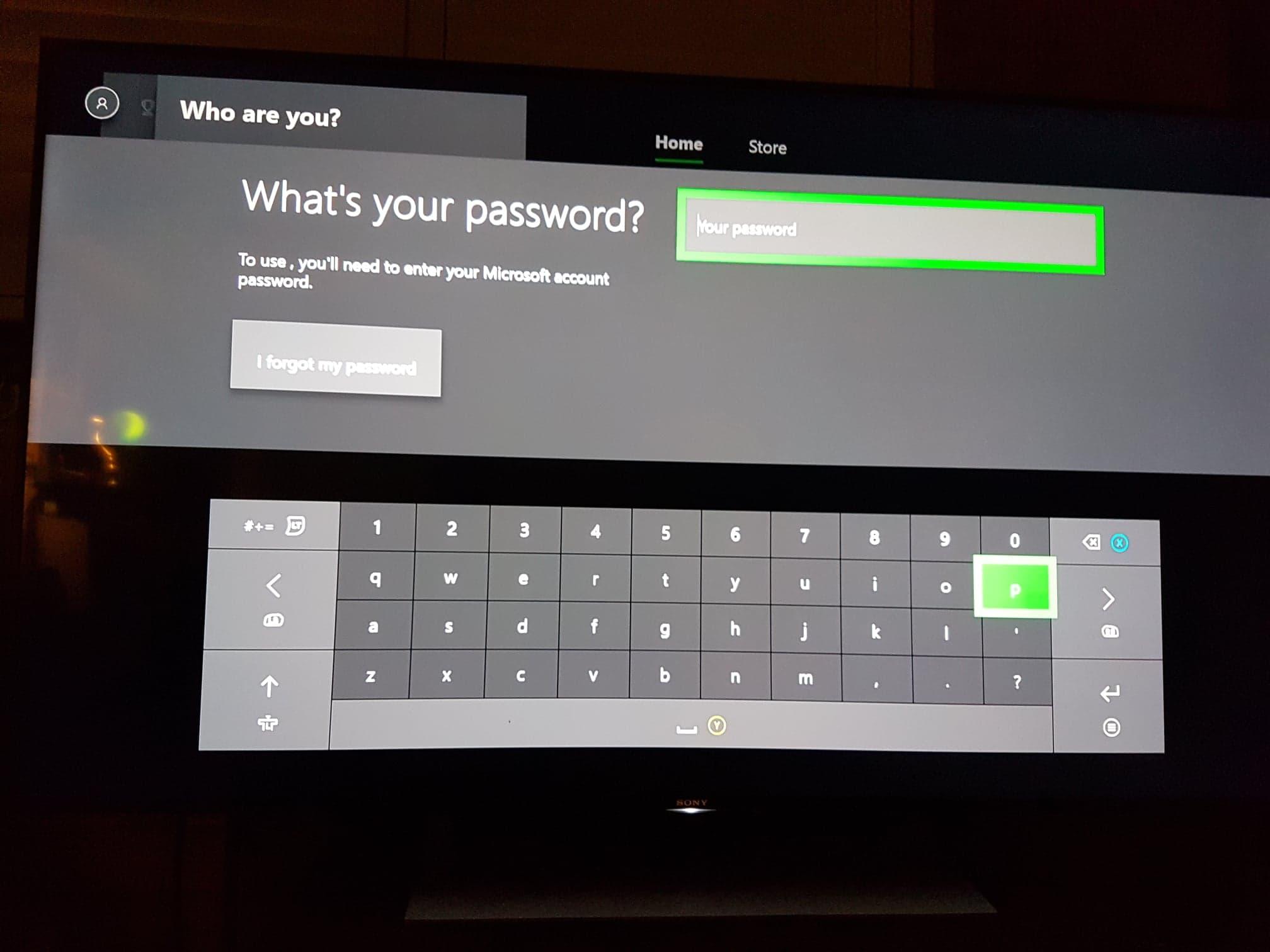 i forgot my microsoft password for xbox live