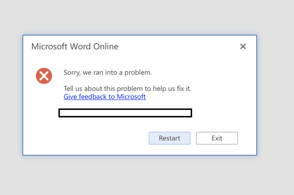 unable to edit word document online