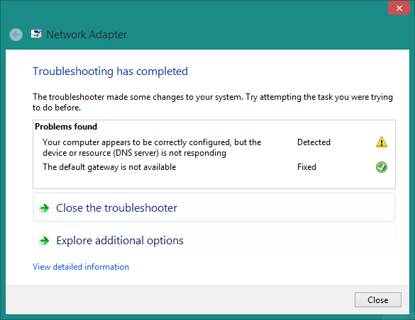 Limited connection and DNS server is not responding - Microsoft
