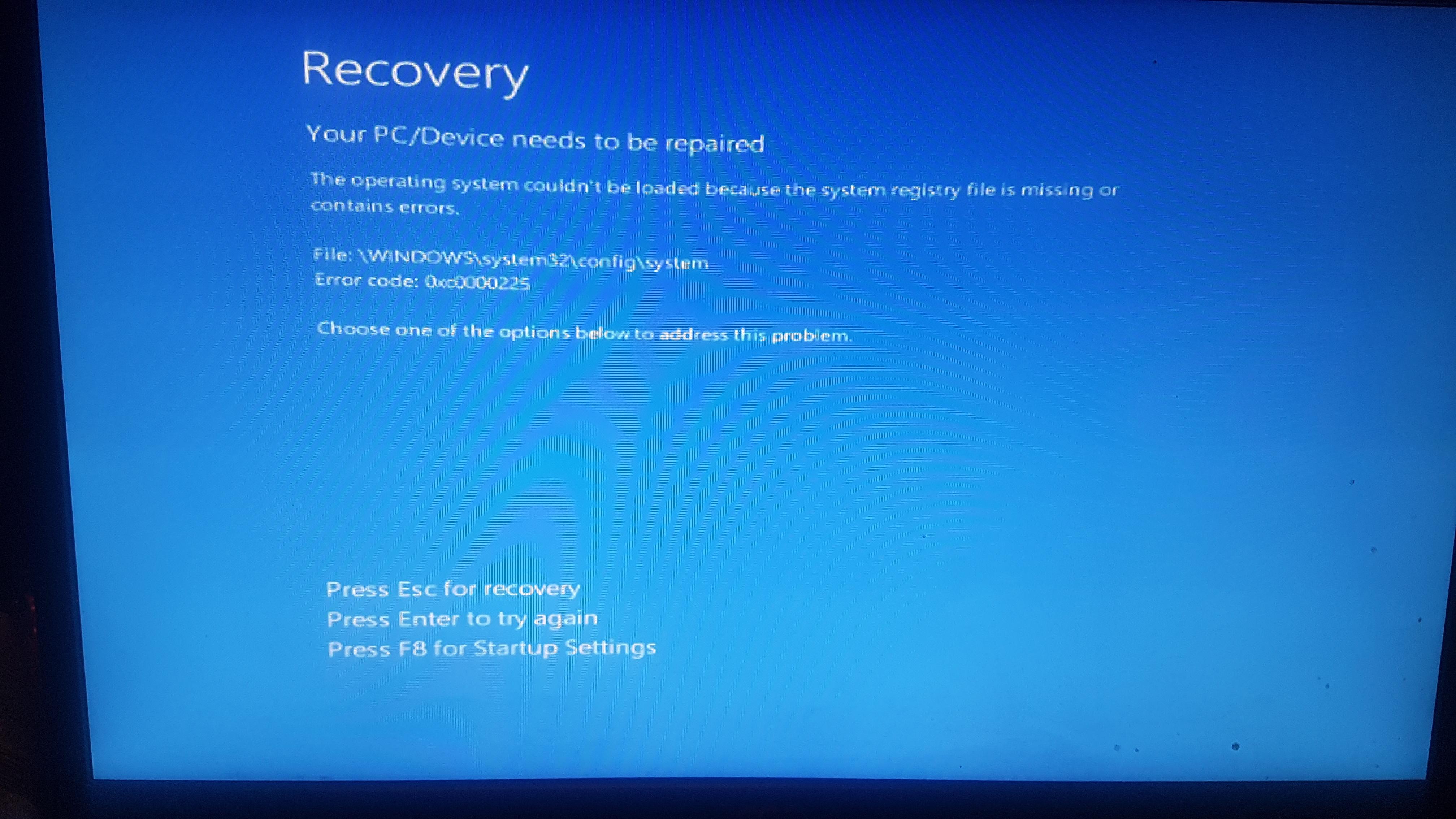 automatic repair windows 10 loop