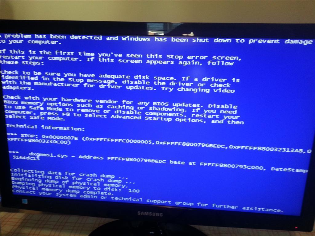 Bluescreen errors - Microsoft Community