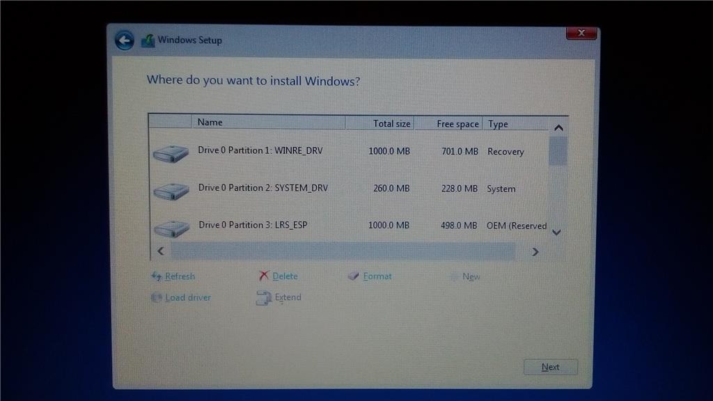 format windows 10 recovery partition