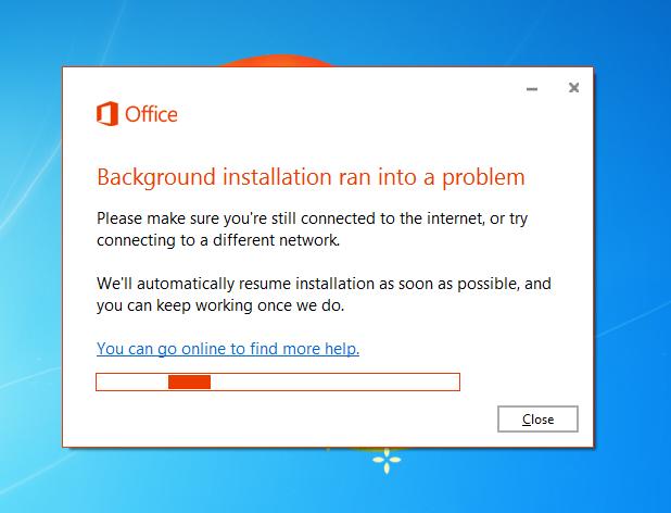 Background Installation Ran Into A Problem Microsoft Community