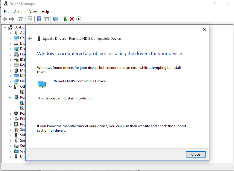 23+ Windows Encountered A Problem Installing The Driver Software For Your Device Code 10 JPG