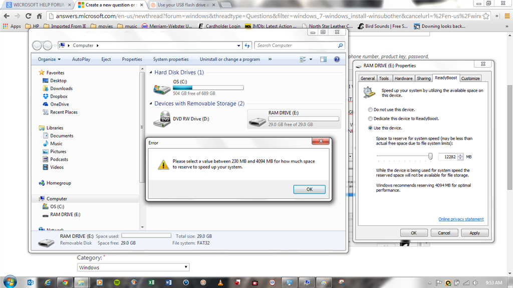 Using 32gb Pny Flash Drive As Ram Microsoft Community