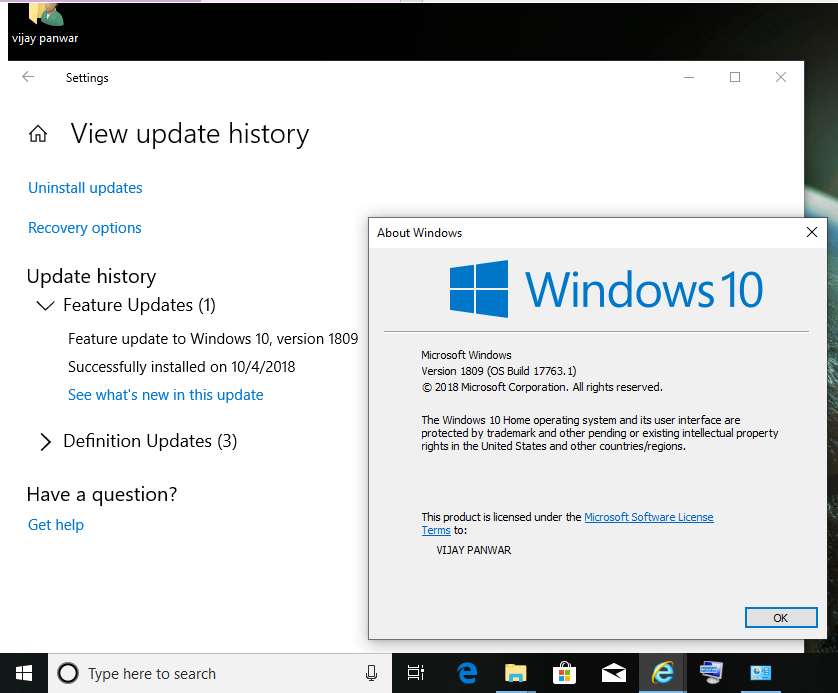 Why not i receive windows 10 1809 update via windows update after