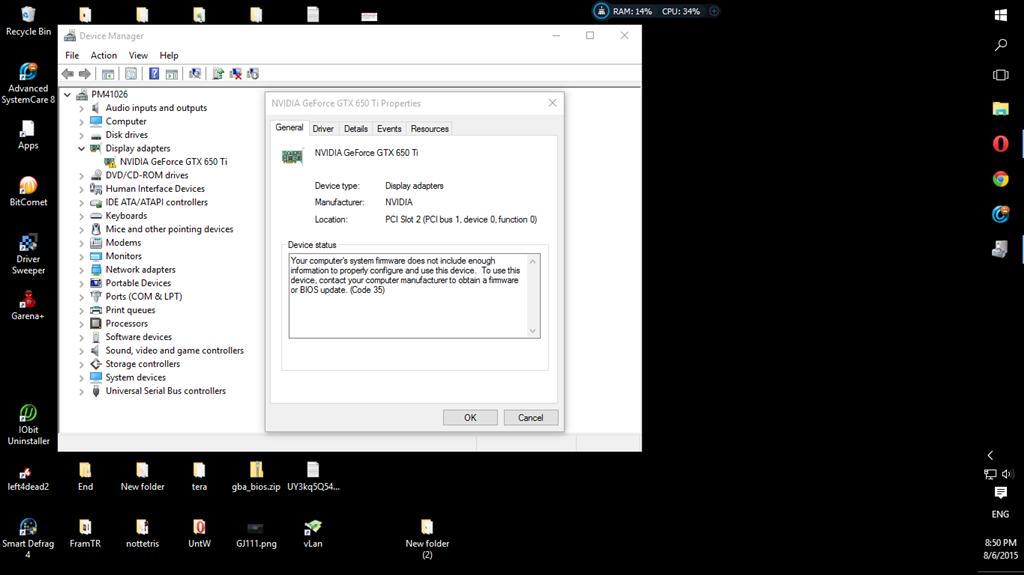 gtx 650 ti driver windows 7 32 bit