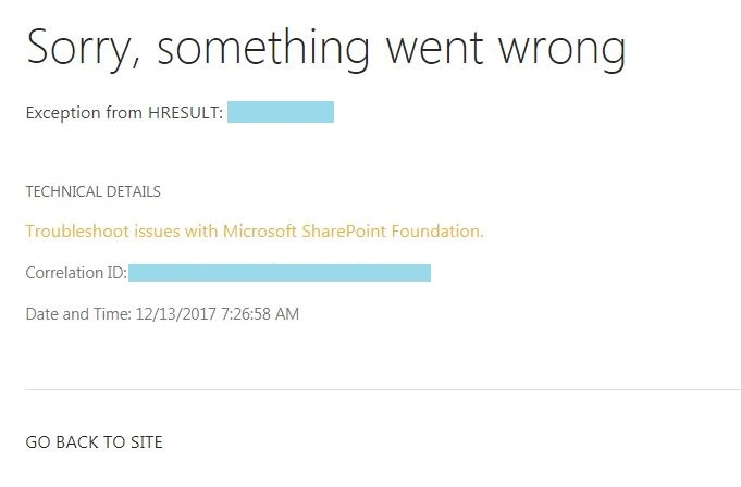 Site template will not create - SharePoint - Microsoft Community