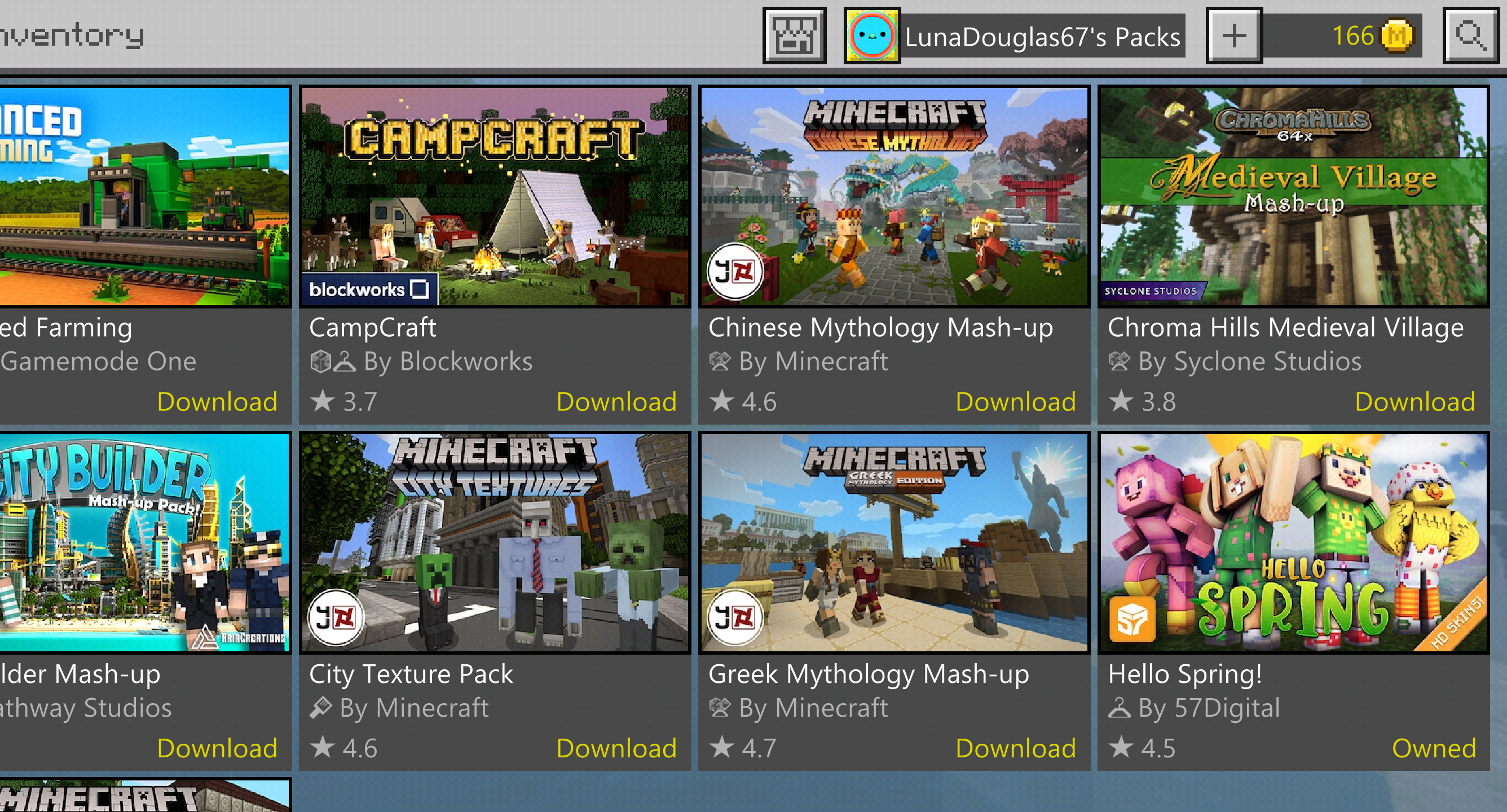 Minecraft DLC not showing as purchased [IMG]