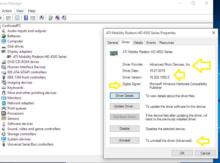 ati radeon hd 4300/hd 4500 series drivers for windows 10