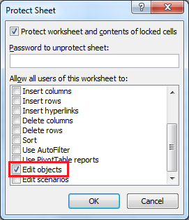 vba protect sheet edit objects