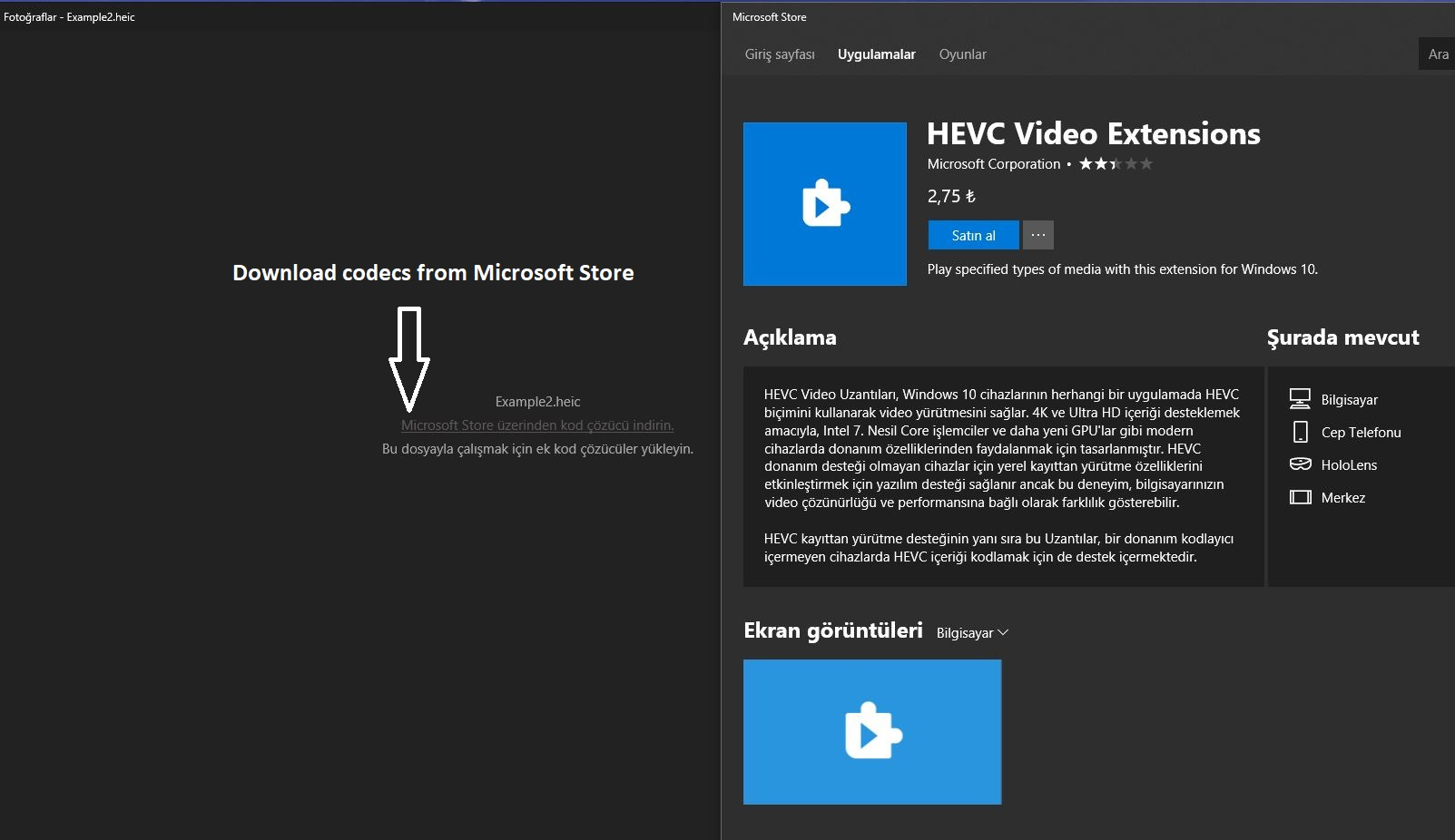 Build 17623 Testing HEIF format files with Microsoft Photo