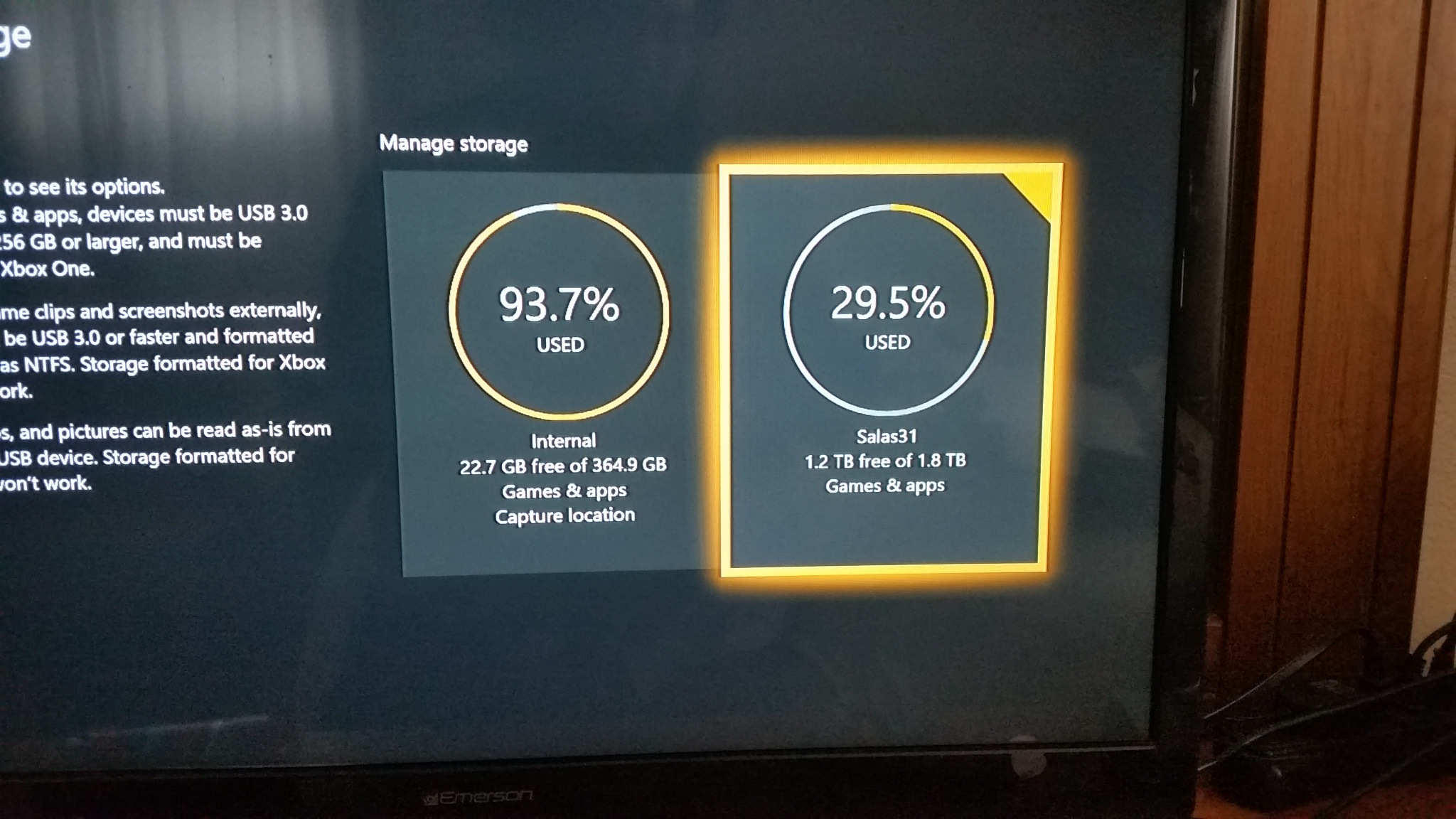 how to use external hard drive on xbox one