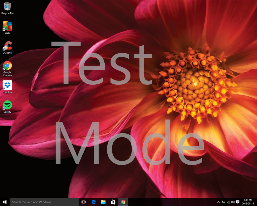 My New Dell Xps 8900 Shows A Large Test Mode Mark On The Microsoft Community