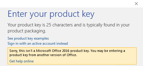 office 2016 product activation key