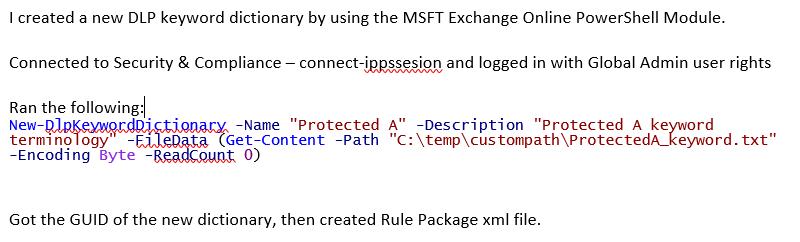 remove custom sensitive information types from o365 dlp microsoft