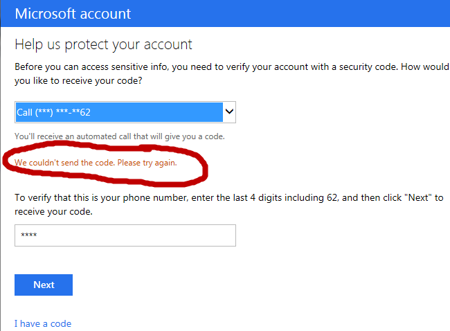 cant get in microsoft account