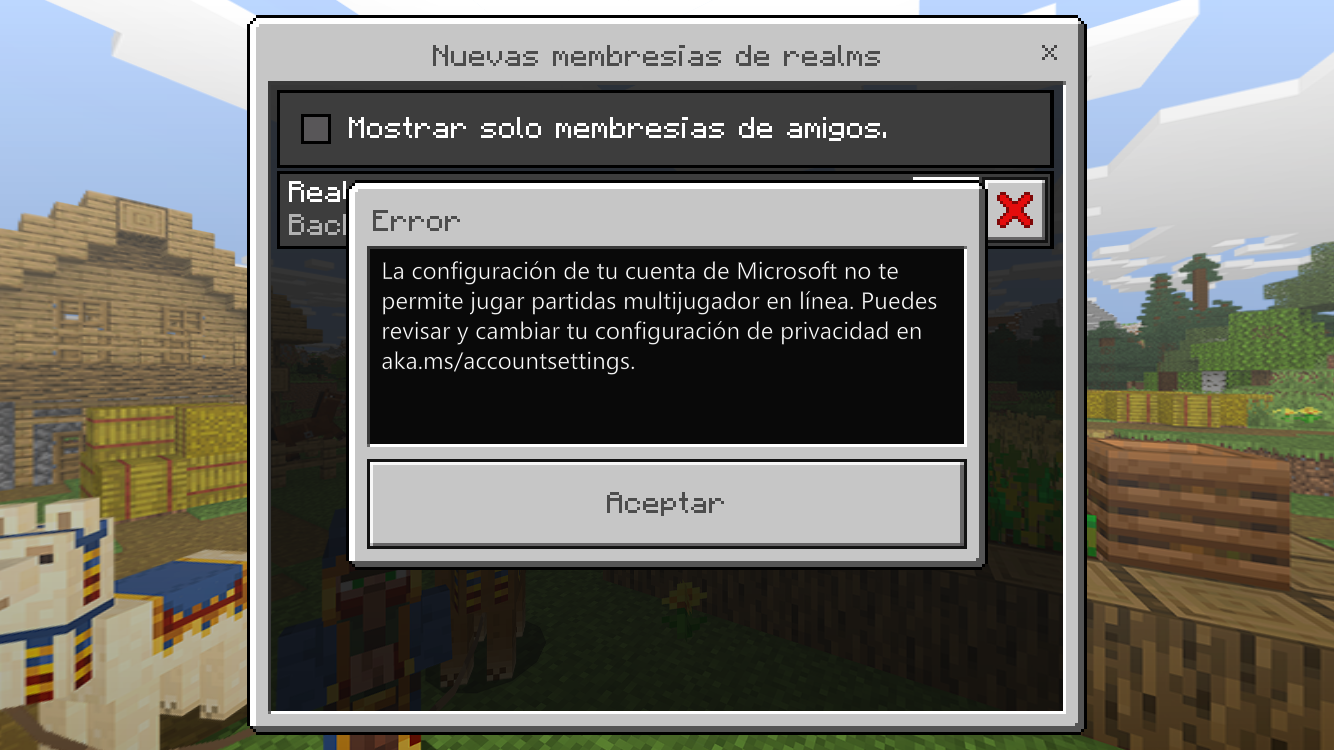 Imposible to Play in line at Minecraft PE [​IMG]
