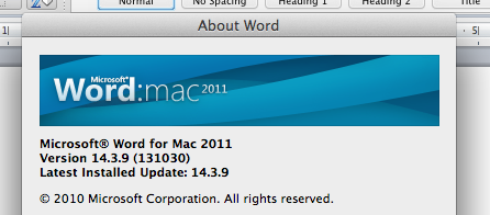 MS Office 2011 for Mac NOT RESPONDING!! - Microsoft Community