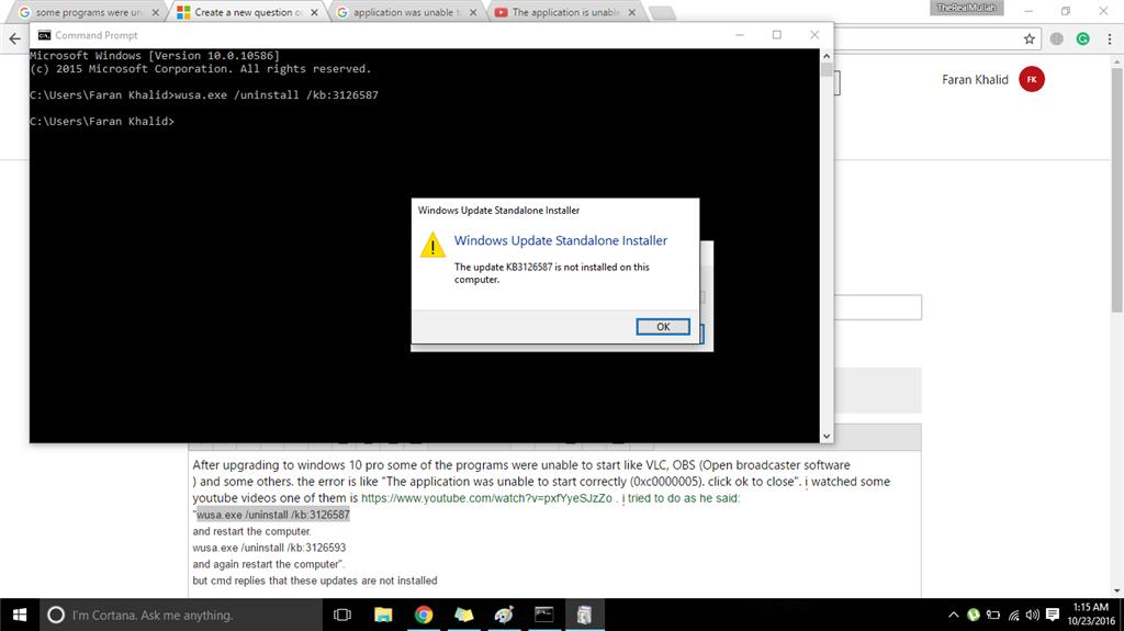 program was unable to start (0xc0000005) microsoft communitySoftware File 0xc000005 #18