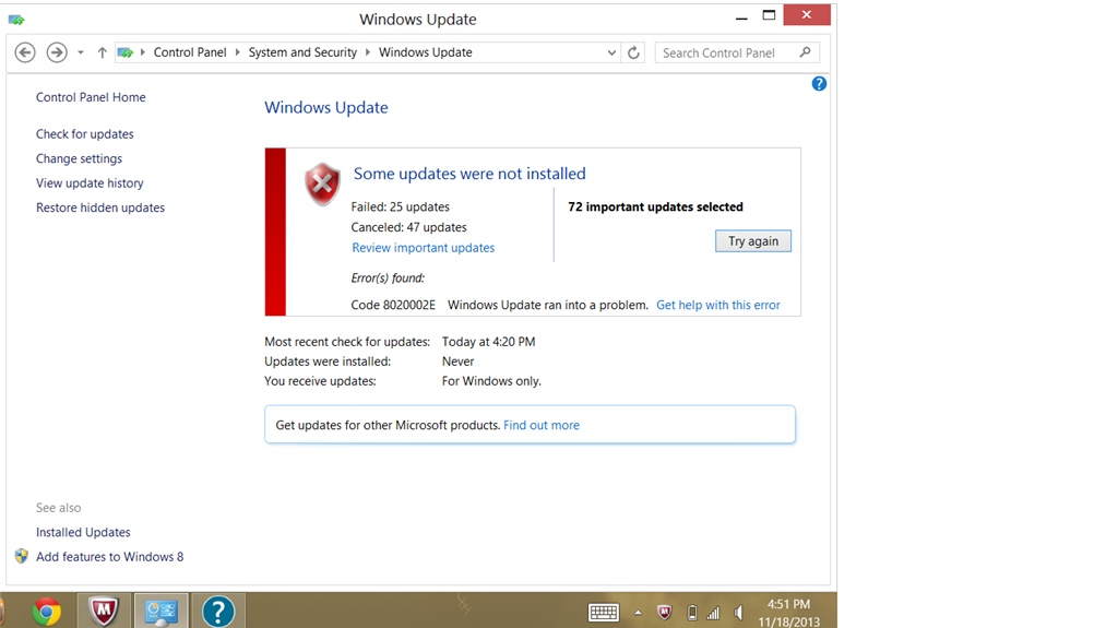 update windows 8.1 problem