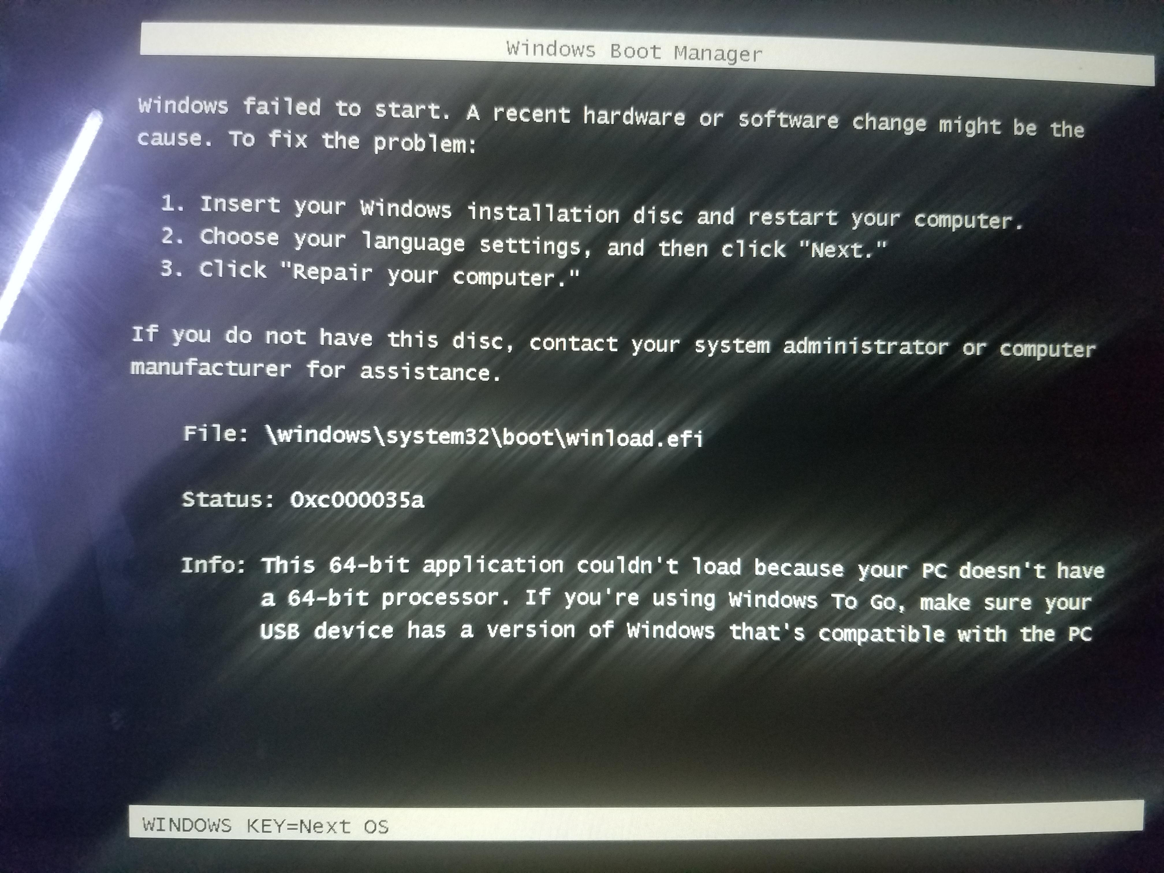 Windows 10 64 bit won\u0027t install on my 64 bit tablet - Microsoft