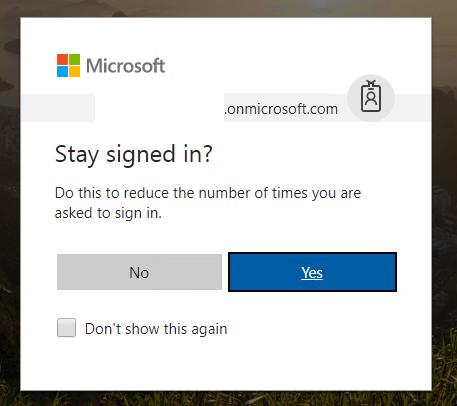 I have to enter my login credentials every time I go to Office 365