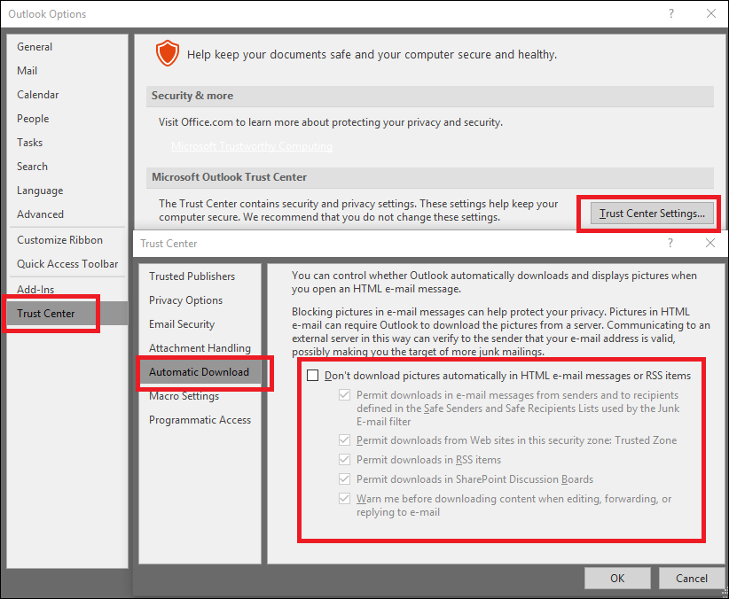 Outlook 2016 Extremely Slow to Load Email for Printing
