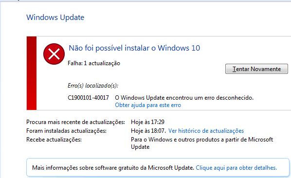 Windows update o site encontrou um problema windows update diagnostic vista