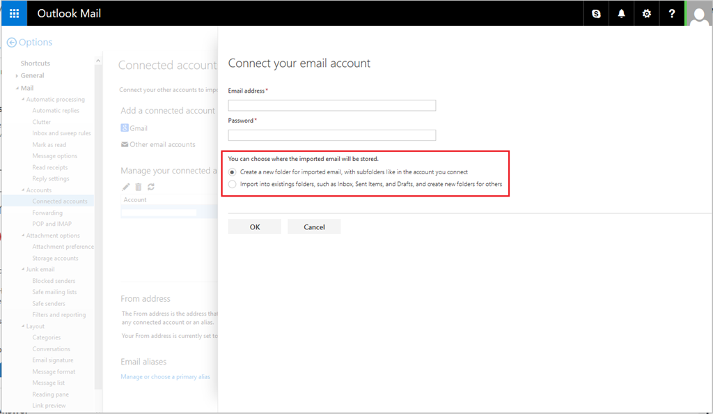 Merge hotmail accounts