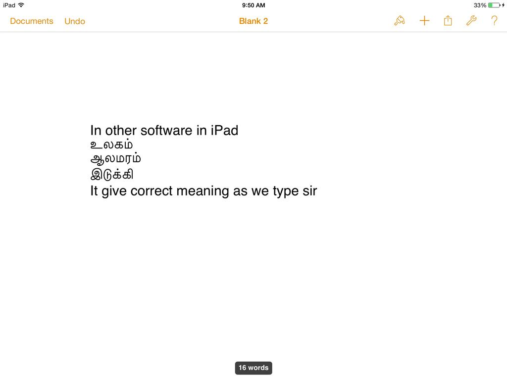 One note iPad tamil font compatability ? - Microsoft Community