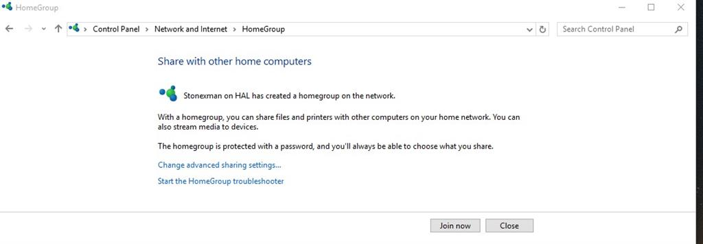 computer cant join homegroup