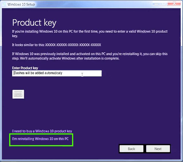 how to install windows 10 on a pc with vista