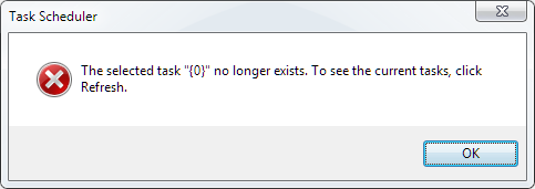 The selected task {0} no longer exists. To see the - Microsoft Community