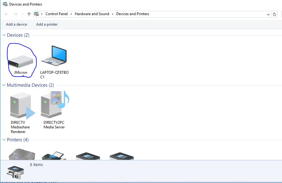 External Hard Drive not showing up in Windows 10 File