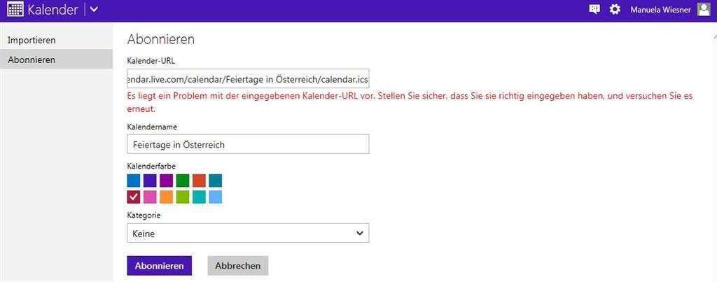 österreichische Feiertage Windows Phone Windwos Live Microsoft