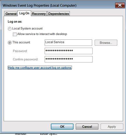 windows local system account