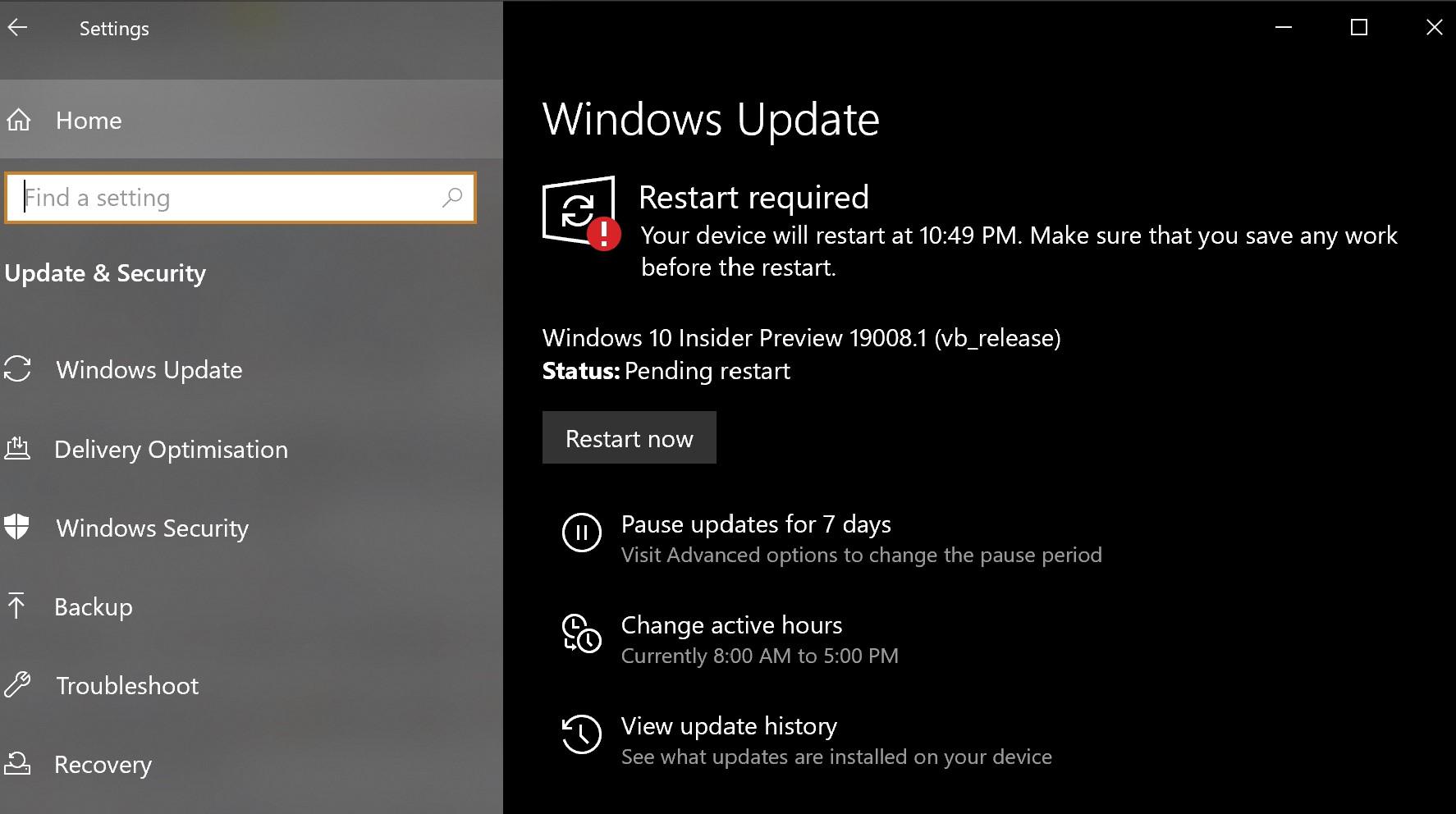 19002 19008 Restart Issue Microsoft Community