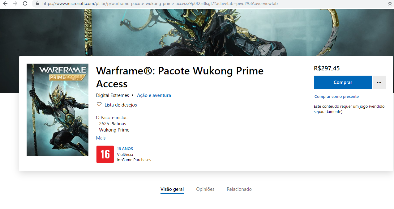 Diferent prices on warframe across all plataforms [IMG]