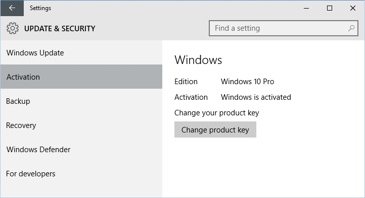 windows 10 pro 2015 activation code