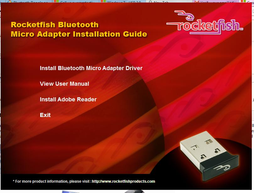 Bluetooth driver rocketfish headset