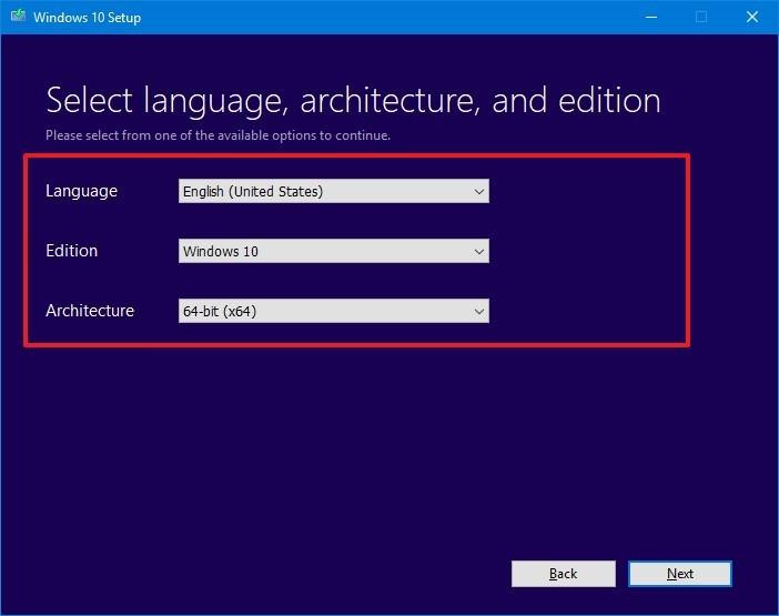 Using Media Creation Tool for Windows 10 Education edition