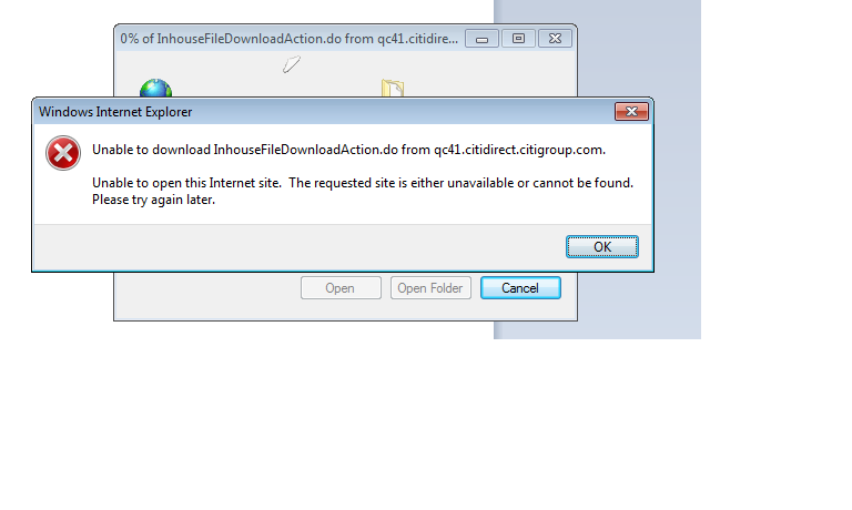 error message unable to open this internet site the requested