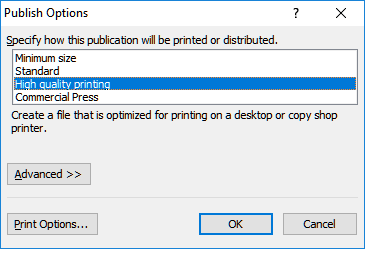 Cannot print from Publisher - Microsoft Community
